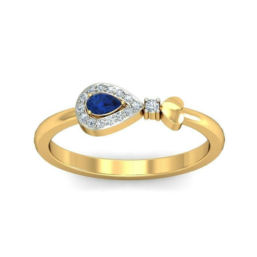 Carter Diamond Casual Ring In Gemstone & 18k Gold || 16871 onwards || http://tinyurl.com/ya8m67aw