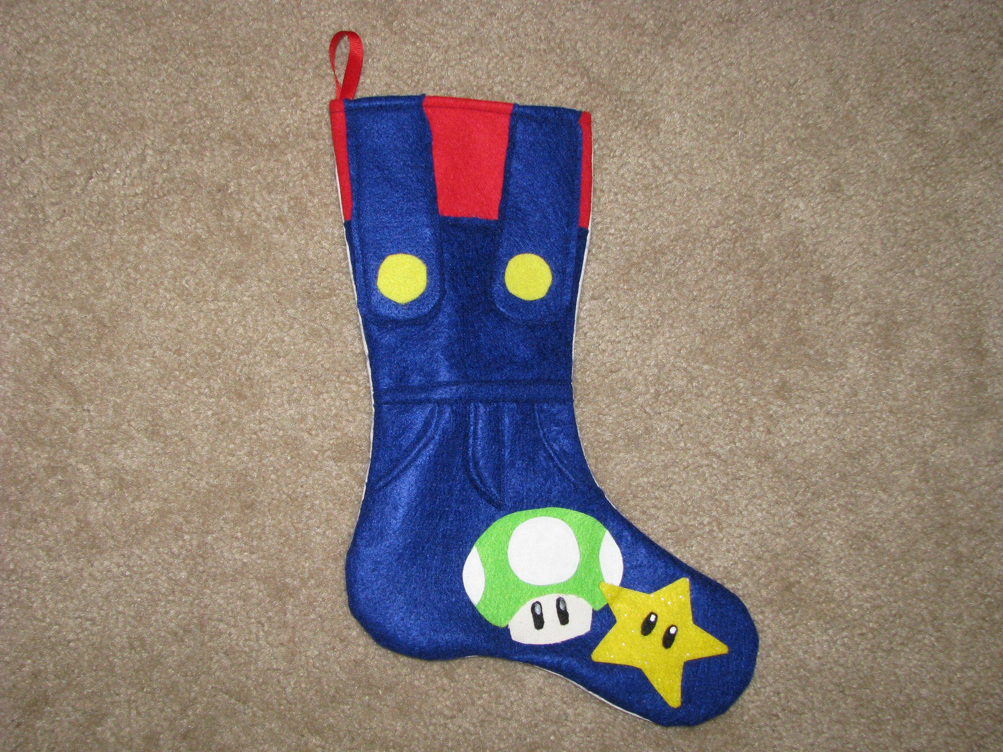 Super Mario Christmas Stocking.Super Mario Stocking For My Son Things I Have Made