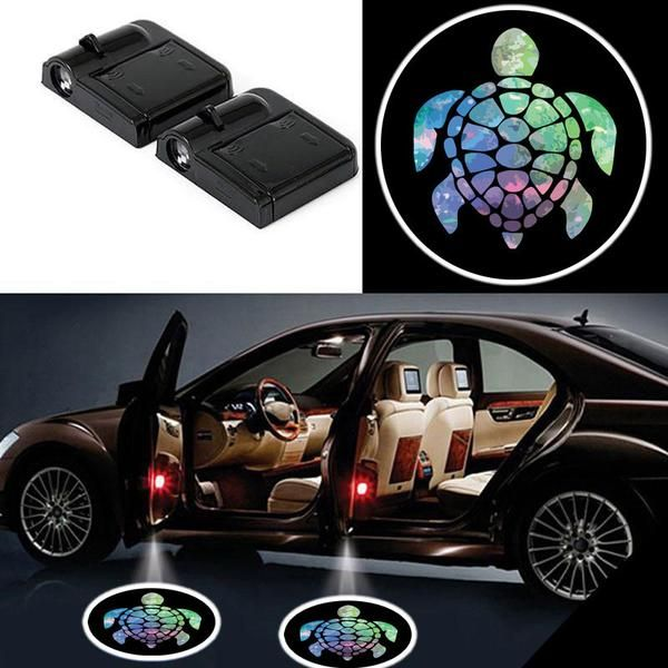 Cute But Really 2 Colorful Turtle Wireless Led Car Door Projectors Batman Car Car Accessories For Guys Car