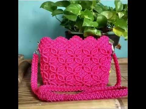 Tutorial tas tali kur membuat hiasan bunga tas tali kur by zeptaifyx -  YouTube bbdd9f9de1