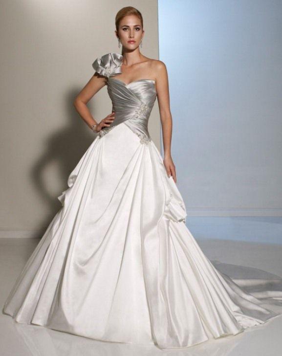 Elegant white and Silver theme wedding dress by Sophia Tolli ...