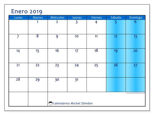 Calendario Enero 2019 58ld Calendari Calendar Free Printable