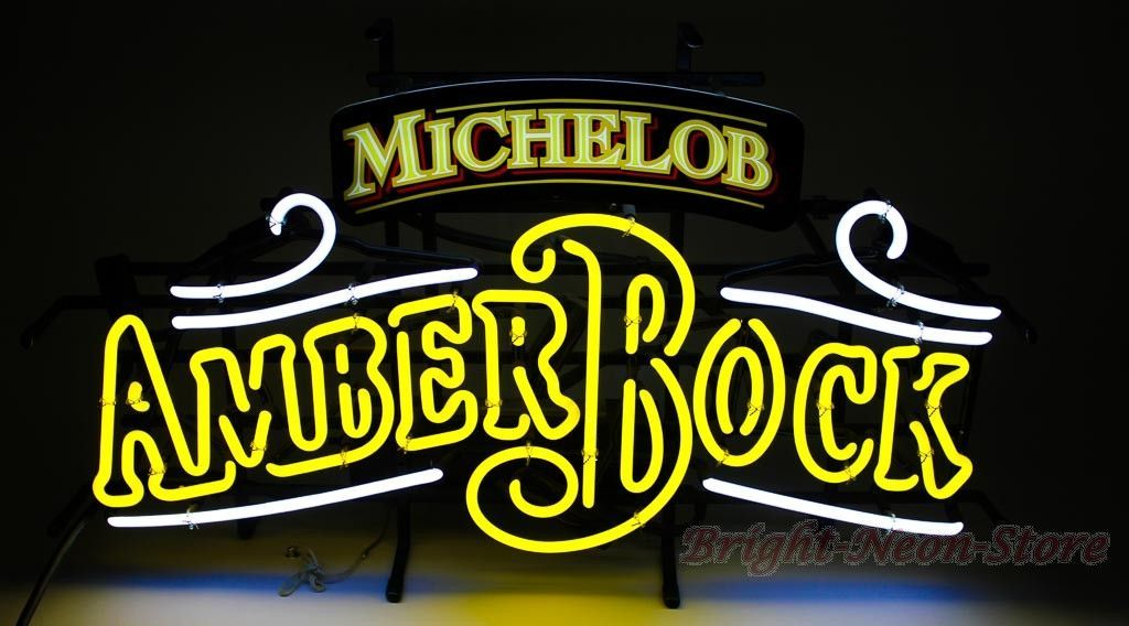 Michelob Amber Bock Neon Sign Neon Signs Custom Neon Signs