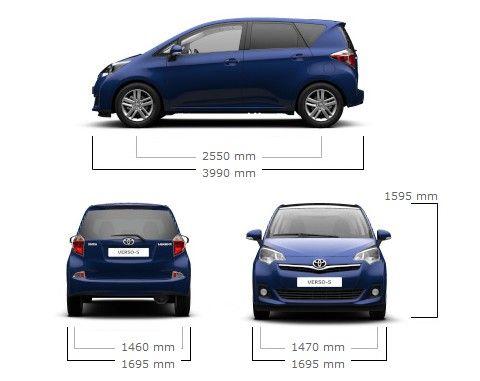 dimensioni-toyota-verso-s | auto-km-0 | pinterest | toyota verso