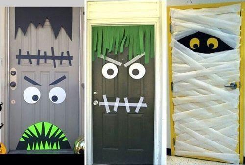puertas decoradas halloween - Buscar con Google Deco Pinterest