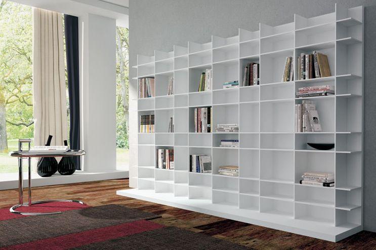 Bibliothèque blanche design - Un immense meuble bibliothèque très ...