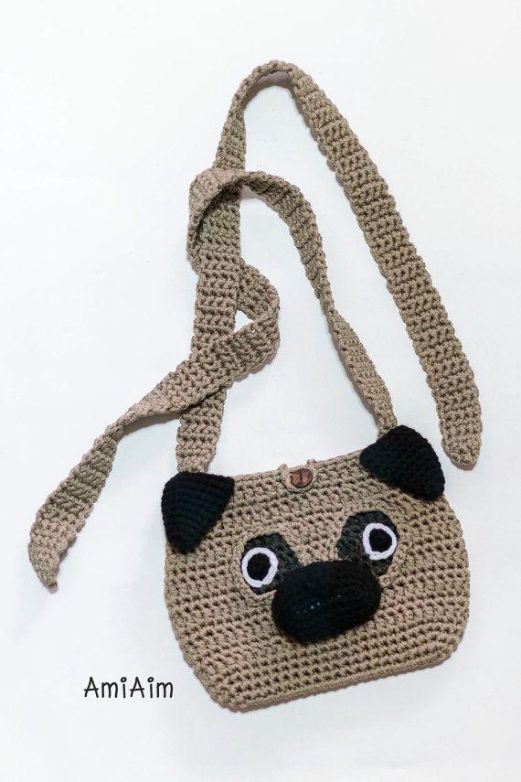 Crochet Bag Pattern Pug Cross Body Bag By Amiaim On Etsy Bags Or