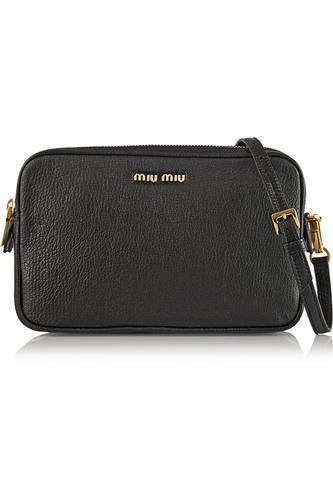 I love this little bag :) Madras textured-leather shoulder bag #bag #women #covetme #miumiu #BBloggers