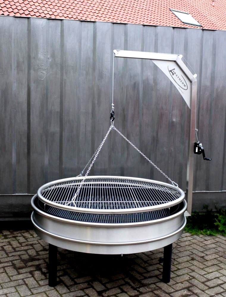 Schwenkgrill Et Barbecue Bois Charbon En Inox Bbq Grill Design Fire Pit Bbq Outdoor Bbq