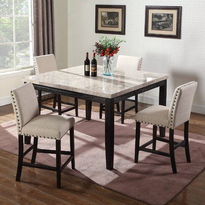 Alcott Hill Wilber Marble Counter Height Dining Table Counter Height Dining Sets Counter Height Dining Table Best Master Furniture