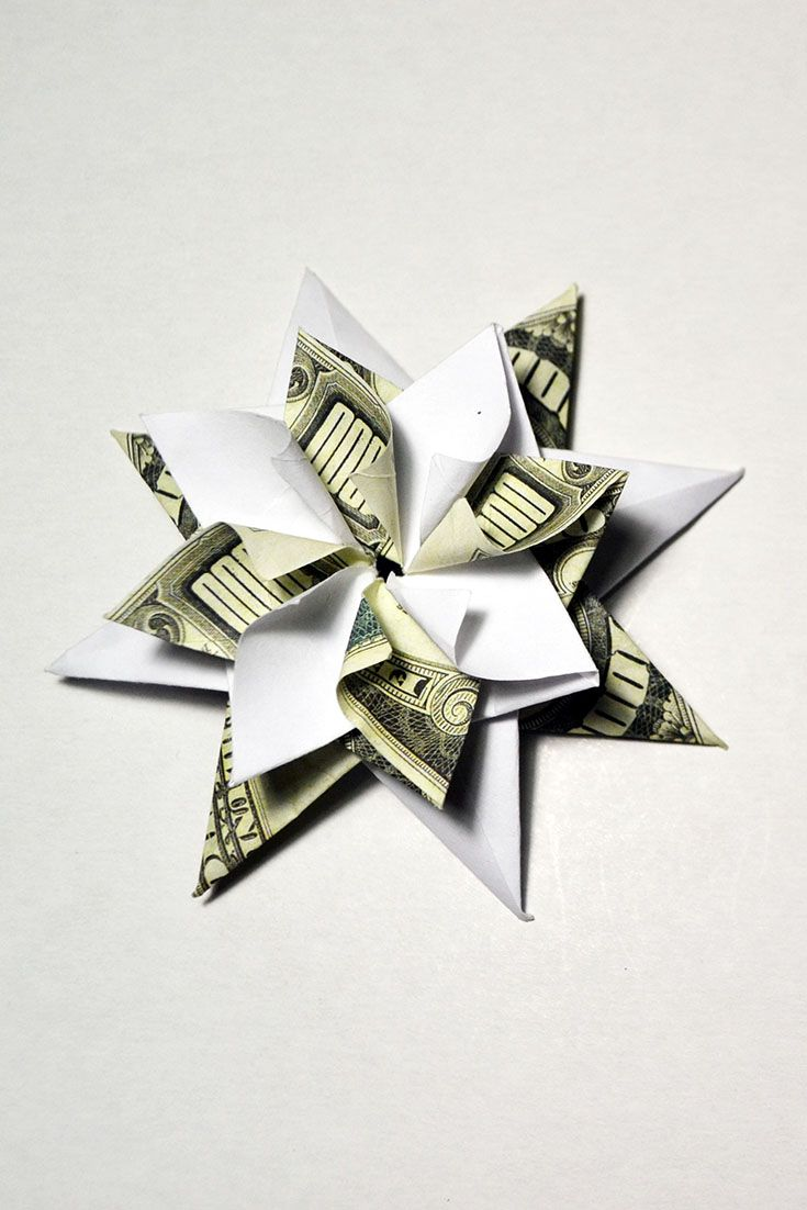 Money origami flower star tutorial diy simple beautiful money star money origami flower star tutorial diy simple beautiful money star flower in the shape of a star is a great decoration and addition to any gift mightylinksfo