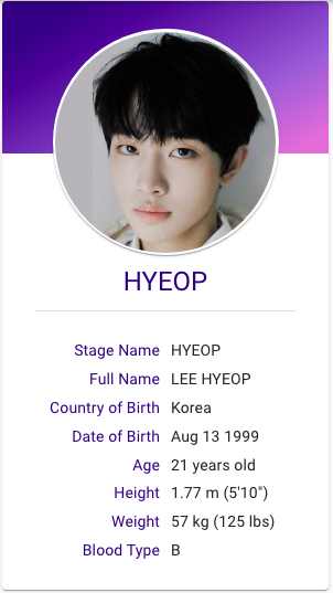 Lee Hyeop Drippin 13 Year Old Boys Korean Music Kpop Profiles