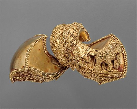 One from a Pair of Royal Earrings Date ca 1st century BC Culture