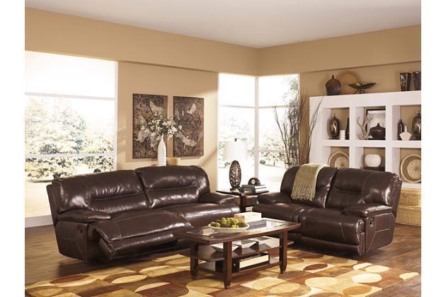 Brown leather recliner sofa and loveseat with coffee table for your - Brown Couch Living Room