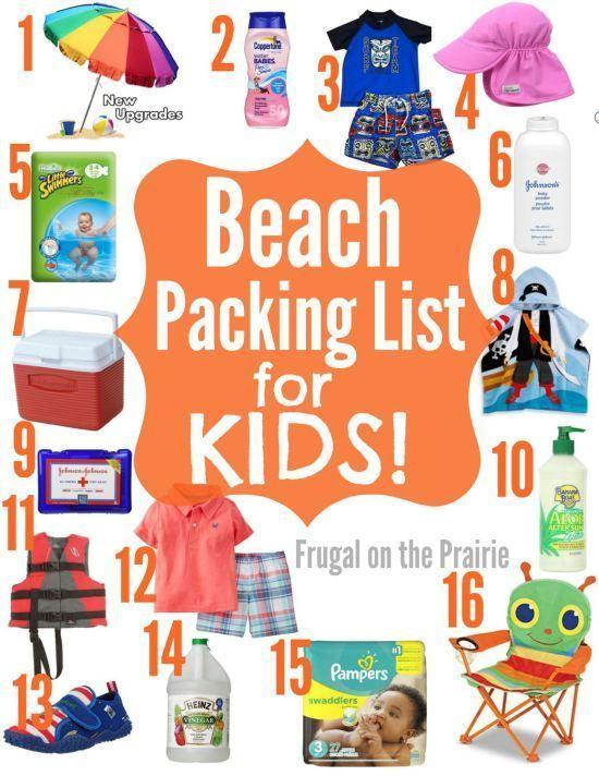 Beach Packing List For Kids