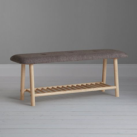 Buy Says Who For John Lewis Why Wood Cushioned Dining Bench Oak Grey From Our Benches Range At