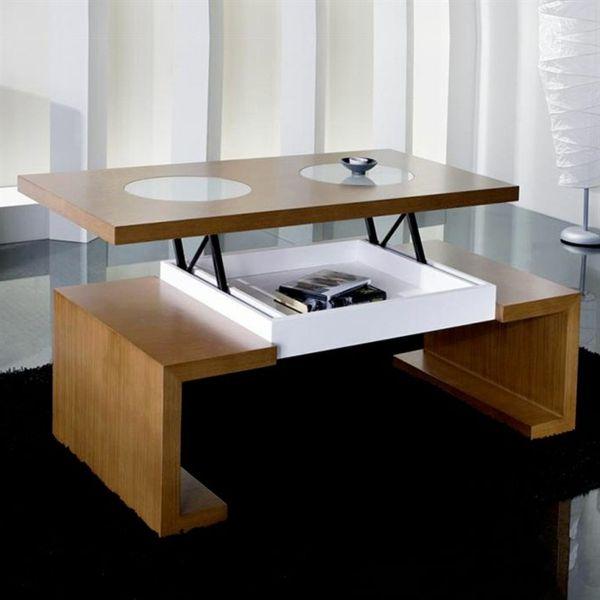 Superb Table De Salon Relevable #11: Table-basse-relevable -clasique-design