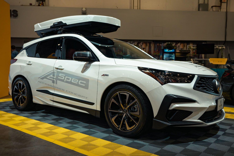 Platinum White Pearl Rdx A Spec With Concept Accessories Sema In 2020 Suv Car Suv Car