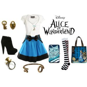 Alice In Wonderland Inspired Outfit Disney Inspired Fashion