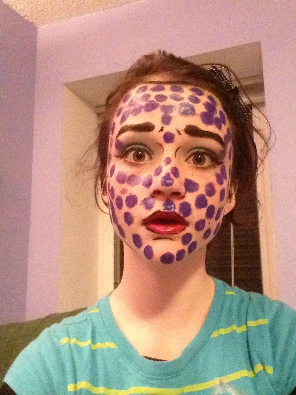 Dot comic makeup attempt