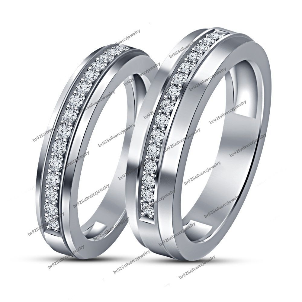 rings bands mine platinum diamond band couple