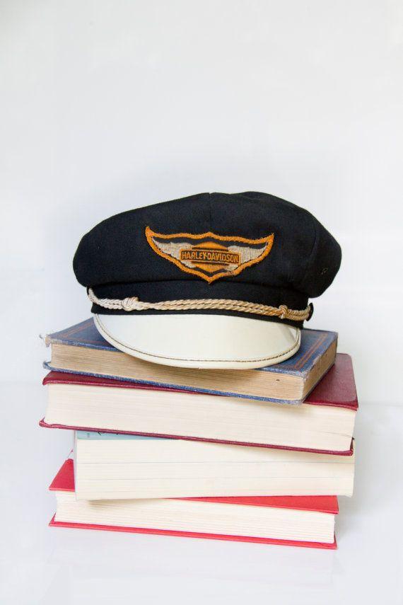 Vintage Harley Davidson Captains Hat 1940 S Harley