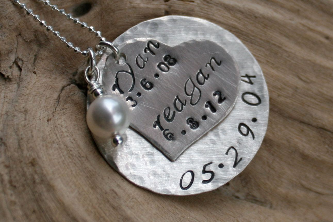 Anniversary gift sterling silver keepsake necklace for