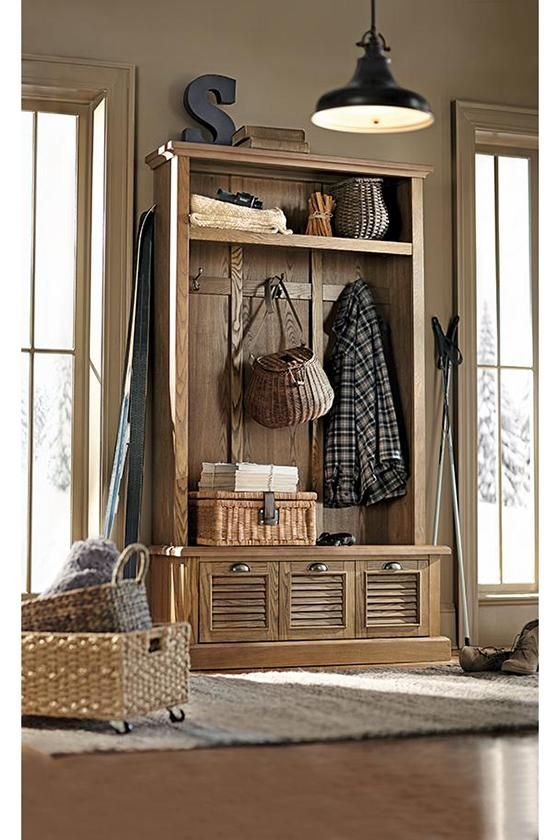 Entryway Furniture Storage shutter locker-style mudroom storage unit. from home decorators