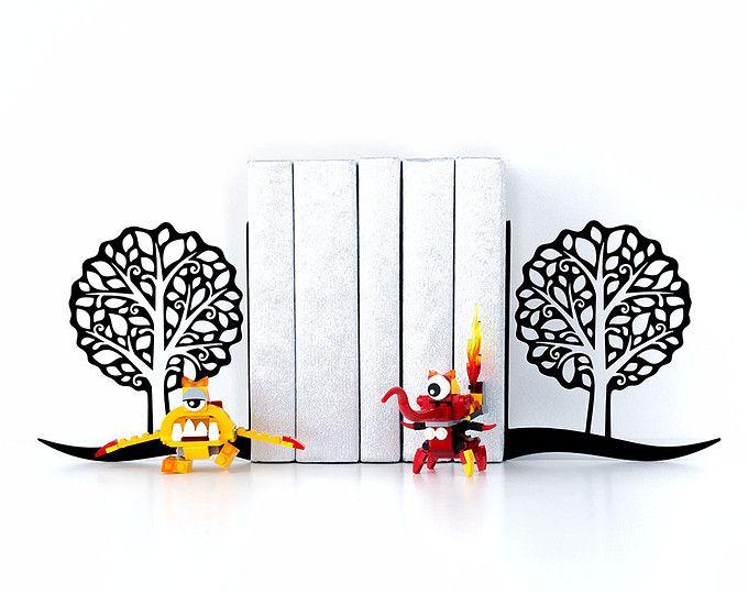 Book ends trees bookends modern decor book shelf housewarming gift book lover gifts home decor black bookends pinterest passport cover