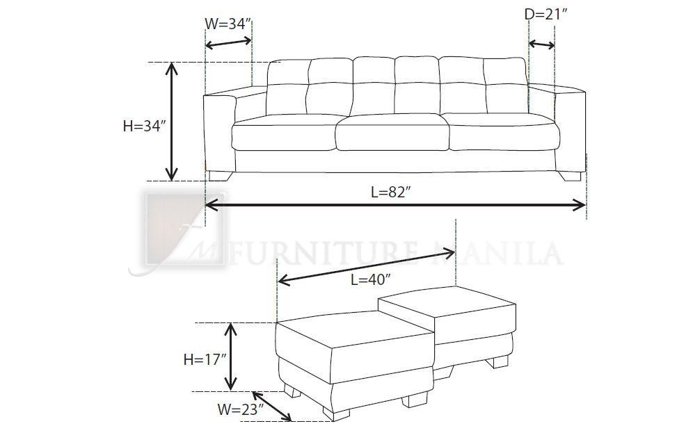 Sofa Dimensions Standard