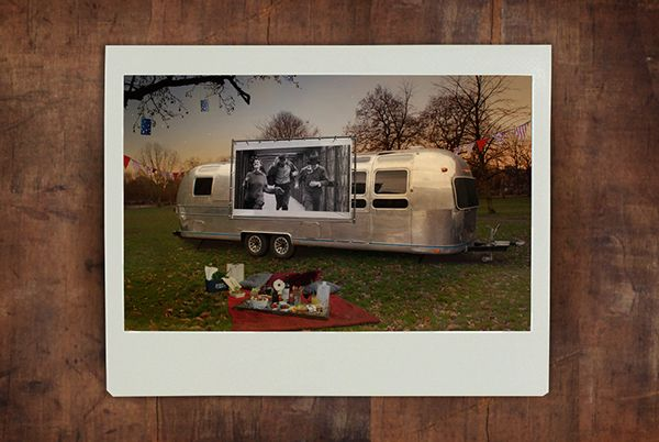 Stars Above - Outdoor Mobile Cinema by Vivien Lambert, via Behance