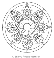 Digital Quilting Design Celtic Snowflake Medallion with