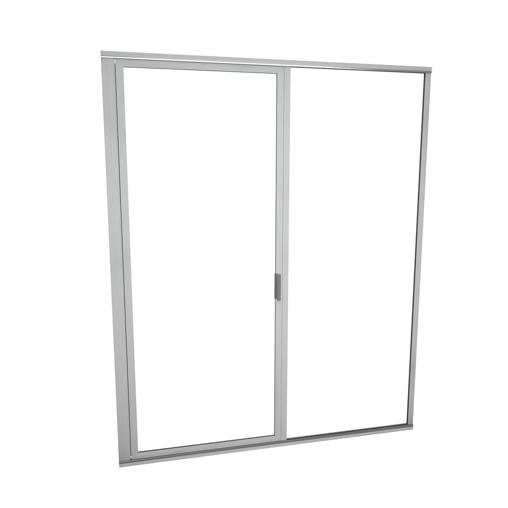 Redi Swing 1100 Series 47 In W X 68 5 8 In H Framed Swing Shower Door In Brushed Nickel With Pull Handle And Clear Glass 11rcbfp04769 Shower Doors Glass Shower Enclosures Clear Glass