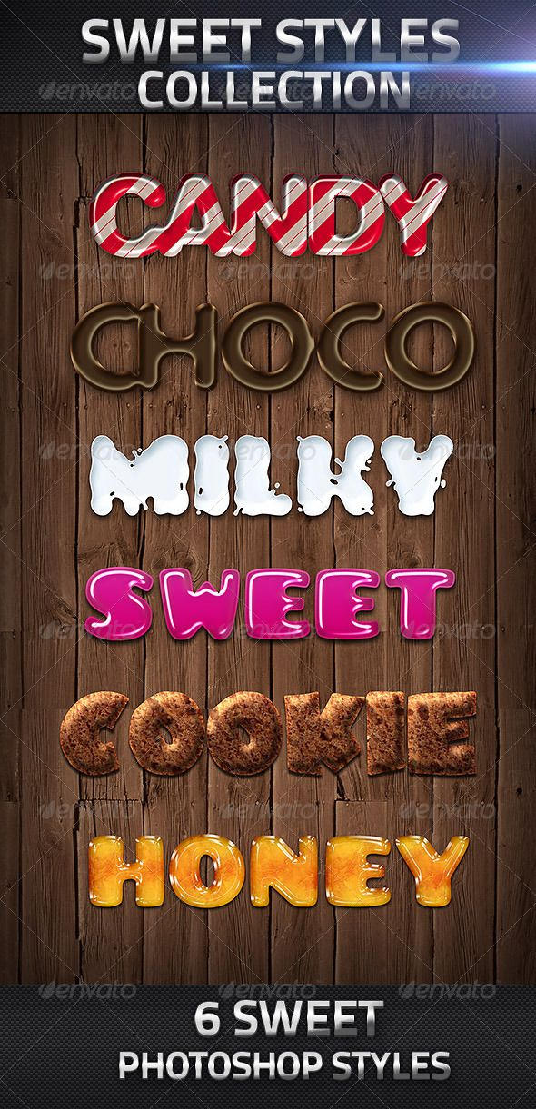6 Sweet Photoshop Layer Styles - Text Effects Styles ...