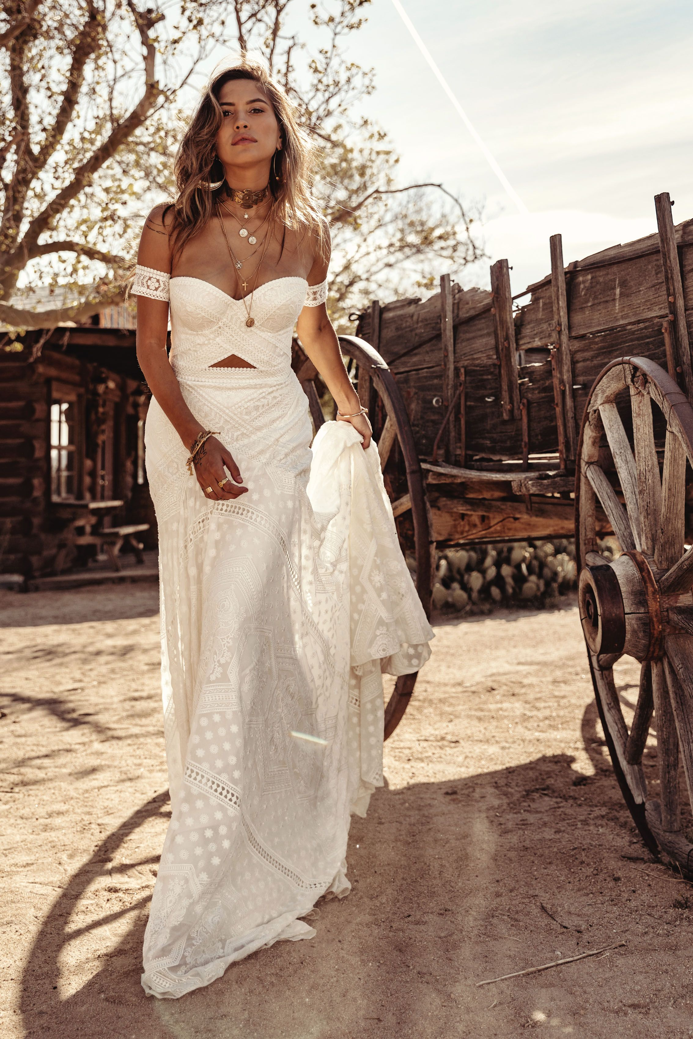 Knoxville Gown By Rue De Seine Moonrise Canyon Collection 2019 Wedding Dress Bustier Wedding Bustier Western Wedding Dresses