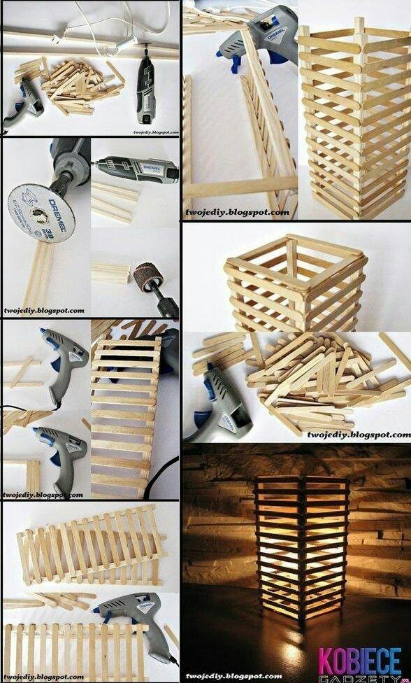 La Lampe Avec Des Bâtons Dans La Glace Avec Images