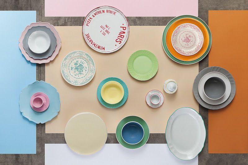 Bitossi Home Graphic Tablewear Collection Pink Bar Milan Design