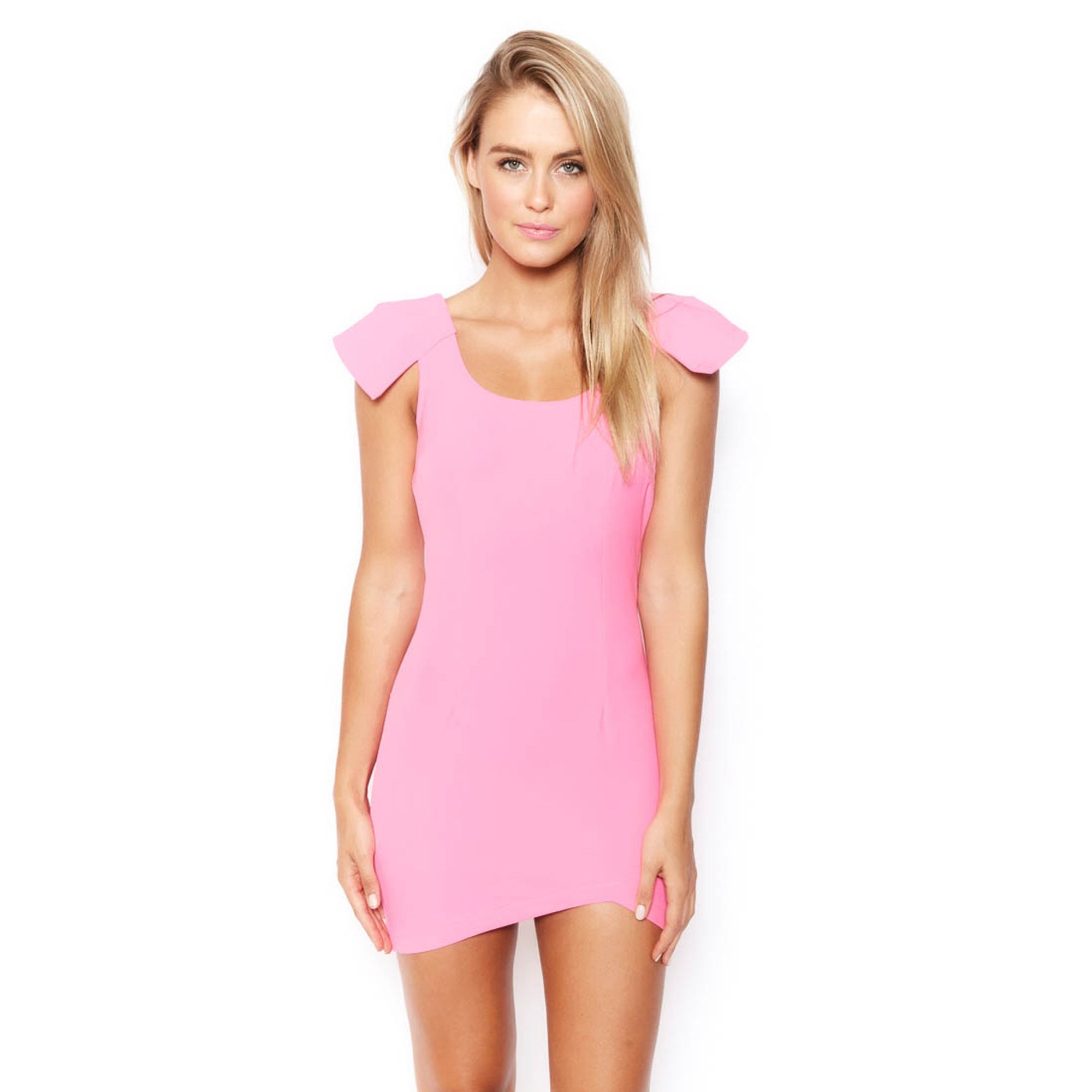 3c6c790a57a2c WINGS FOR DREAMERS MINI DRESS - NEON PINK