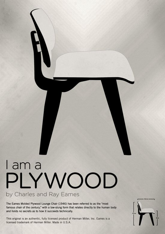 Chairs A Tribute To Seats I M A Plywood Poster Art Print By Pablo Zarate Design Art Society6 Famous Chair Chair Design Iconic Furniture