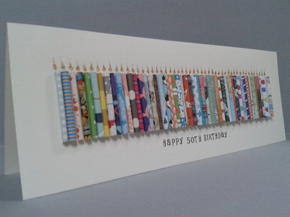 Large Happy 50th Birthday Candle Card Can Be Personalised With A