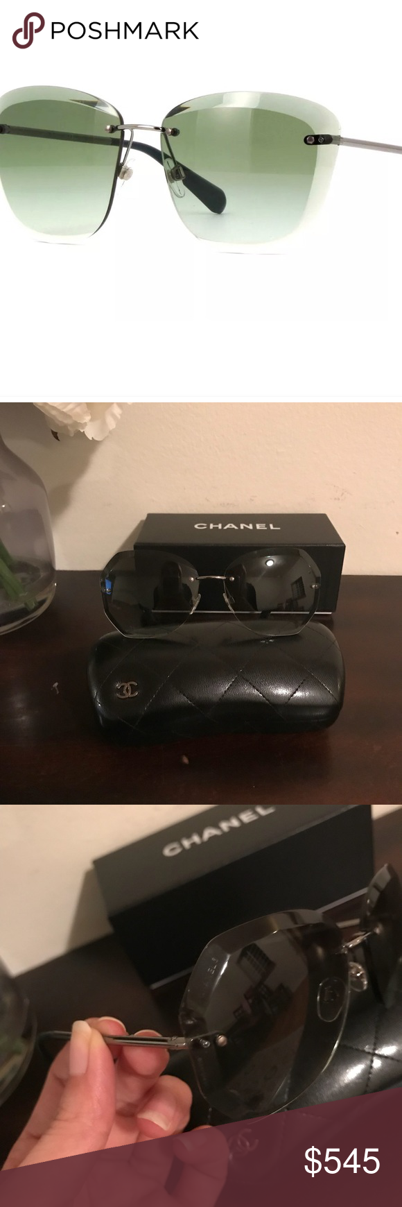 9f45647f5b8 Authentic Chanel 4221 c.108 3M Butterfly Sunglasse Frame Colour Gunmetal  Lens Colour Green