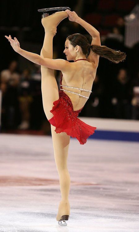 Sasha Cohen--this move should be named for her.   Figure ...