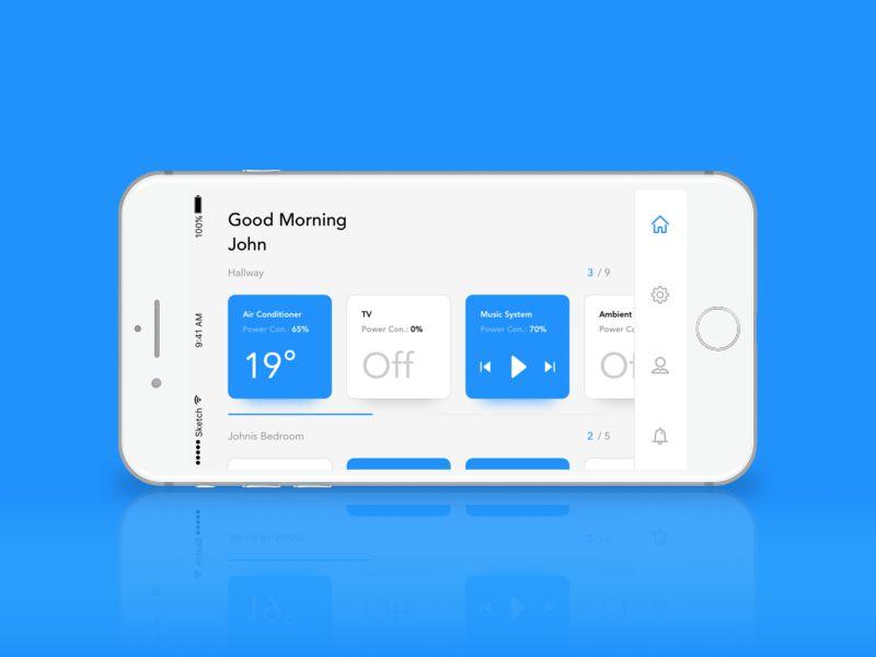 Remote App - Home Page Landscape Mode   Landscape mode, App and ...