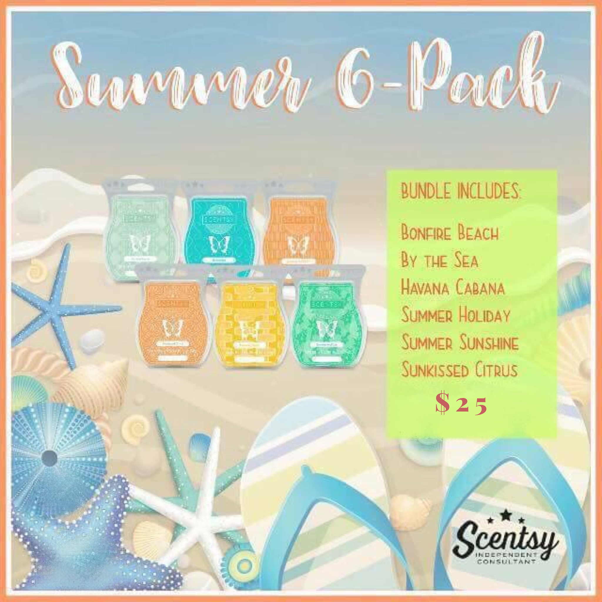 Summer 6 pack #newscents mariaorozco.scentsy.us