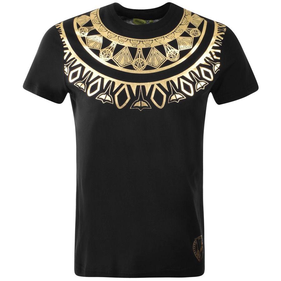 95bf0b5f Versus Versace Lion Logo T Shirt Black | Menswear in 2019 | Versace shirts, Versace  t shirt men, Versace t shirt