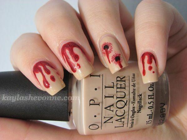 Halloween Nail Art Series - Vampire Bites