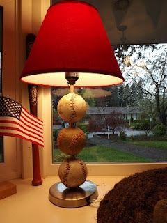 Diy Baseball Lamp For My Future Nephews Room Future Nephew Ideas