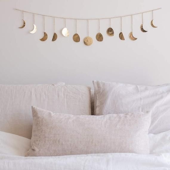 Moon Decor Wall Decorations | Handmade Hammered Detailing | Boho Accents Wall Decor | Moon Phases Wa -   18 home decor diy crafts bedrooms ideas