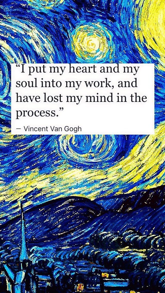 Van Gogh Lockscreen Tumblr Yup Pinterest Cytaty Sztuka And