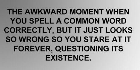 Words are odd...
